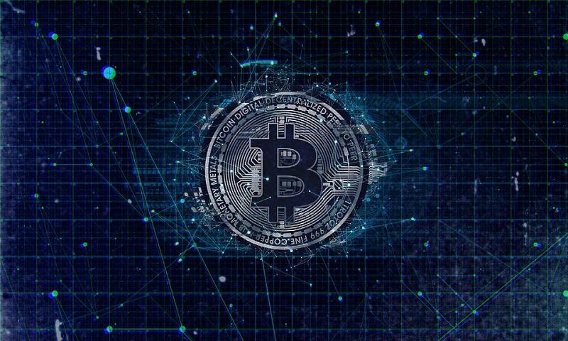 symbolische Darstellung des Bitcoins